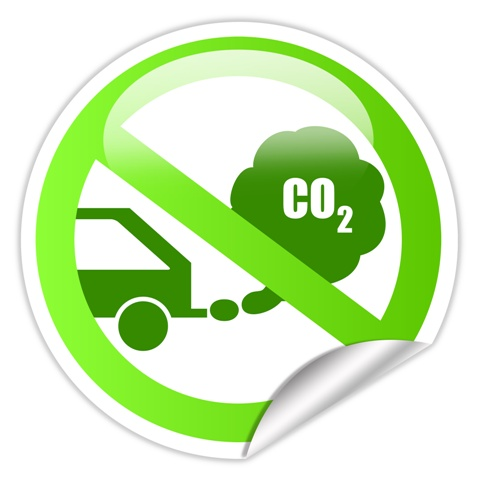 Ecological Transport Sign That Representing Auto Industry Limits The Level Of Co2 From New Cars